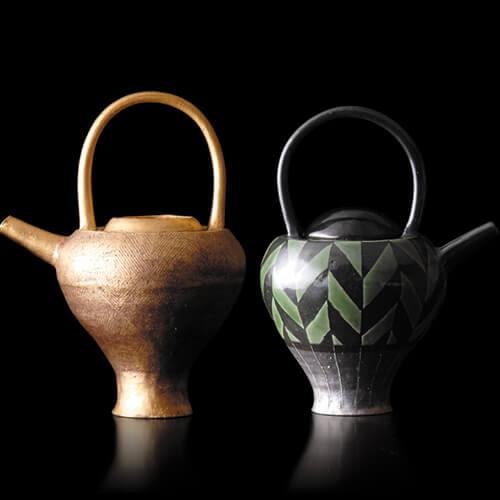 2007年6月7日から開催の「寄神 千恵子 陶展」のDM画像