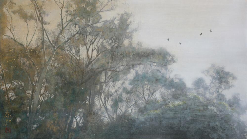 2007年11月8日から開催の「—光彩を紡ぐ— 日本画 芝 康弘 展」の作品01