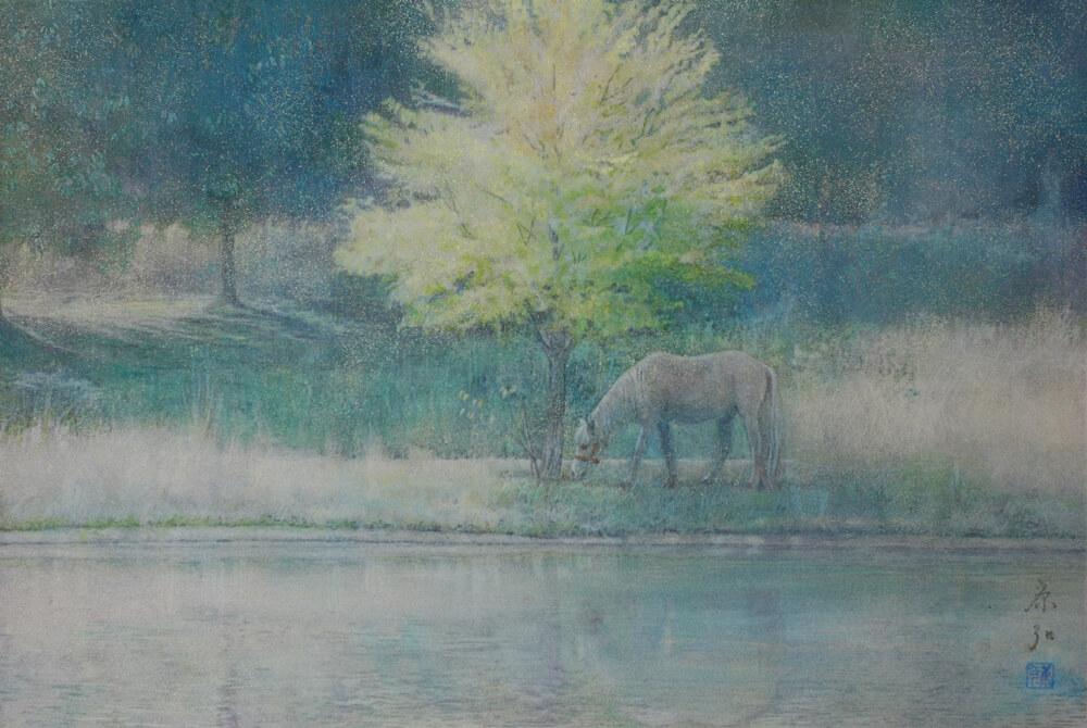 2007年11月8日から開催の「—光彩を紡ぐ— 日本画 芝 康弘 展」の作品02