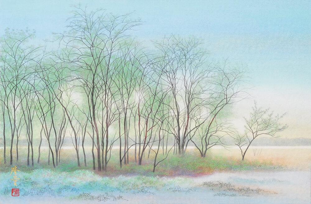 2012年1月14日から開催の「山田降量日本画展」の山田降量の作品1