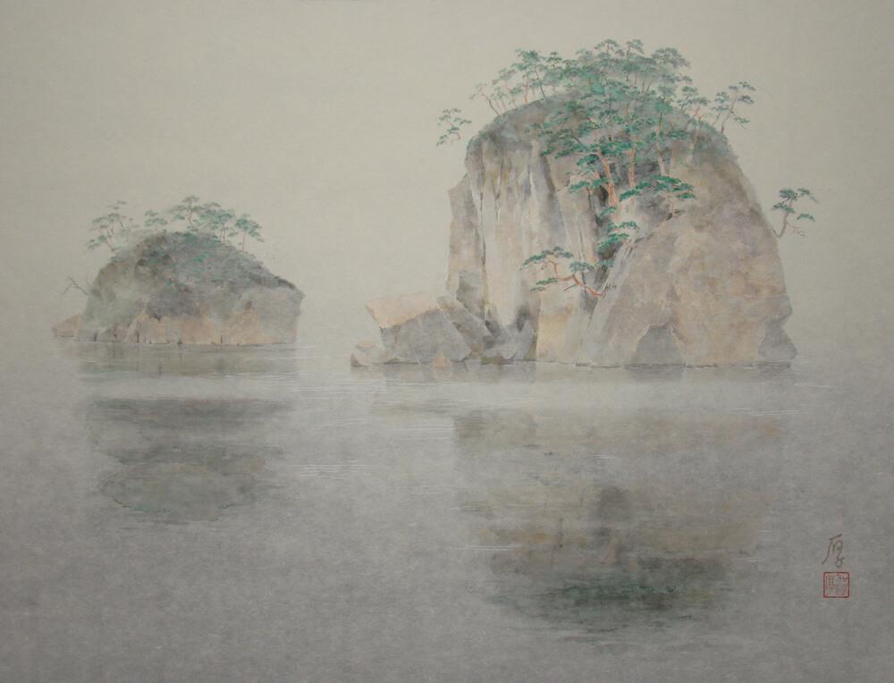 2012年10月5日から開催の「加藤 厚 日本画展」の作品1