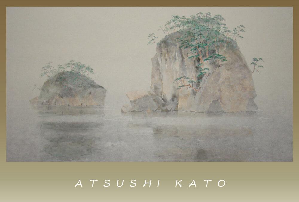 2012年10月5日から開催の「加藤 厚 日本画展」のDM画像