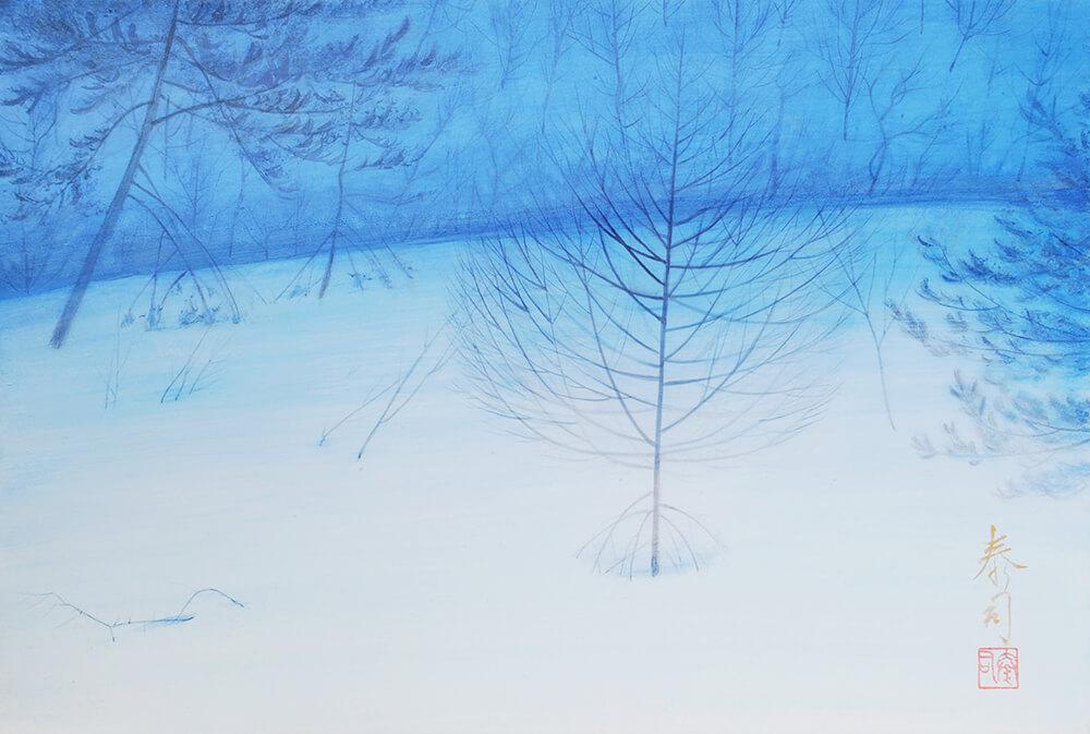 2013年1月11日から開催の「癸巳 橘 泰司 日本画 展」の橘 泰司の作品06