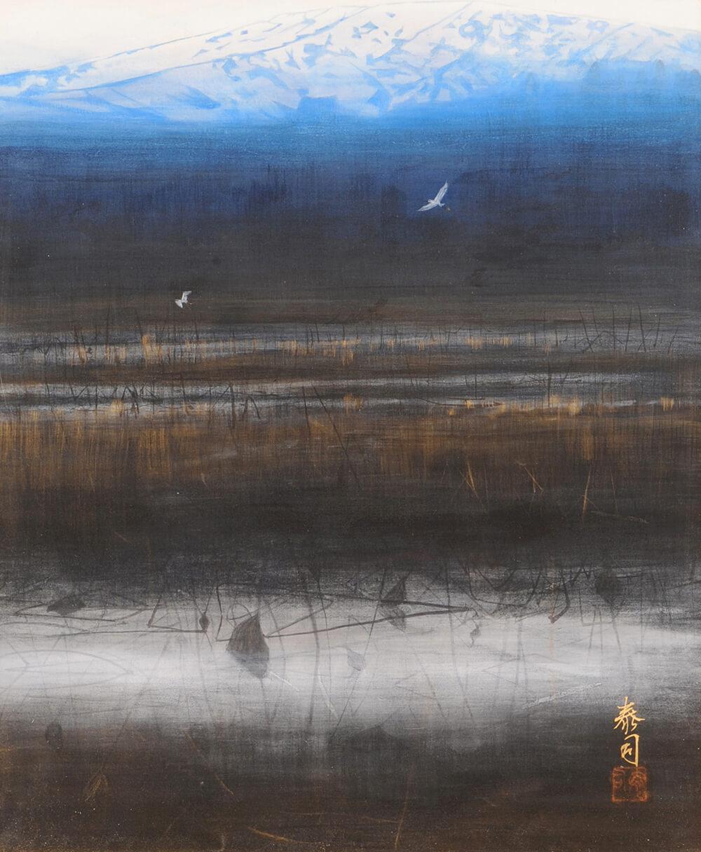 2013年1月11日から開催の「癸巳 橘 泰司 日本画 展」の橘 泰司の作品14