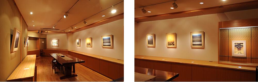 2013年1月11日から開催の「癸巳 橘 泰司 日本画 展」の橘 泰司の展示01