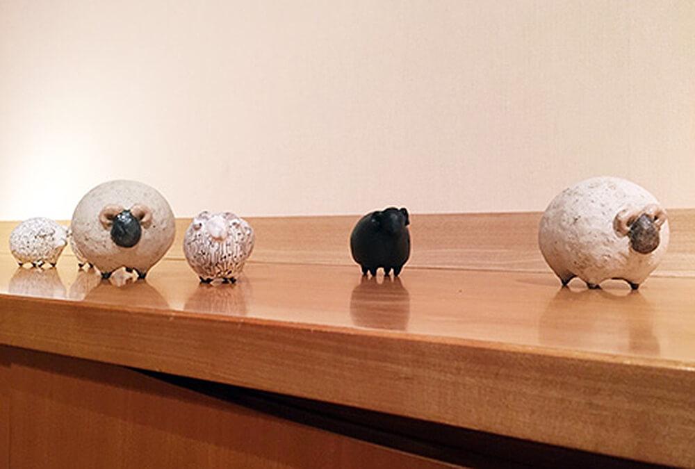 2014年12月4日から開催の「内田 鋼一 干支(未)展」の内田 鋼一の作品DM画像