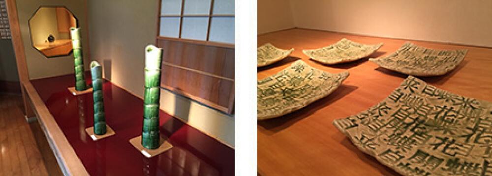 2015年3月14日から開催の「鈴木 徹 花開蝶自来 陶展」の作品複数1