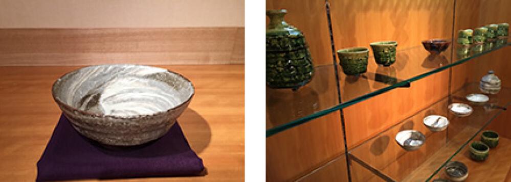 2015年3月14日から開催の「鈴木 徹 花開蝶自来 陶展」の作品複数2
