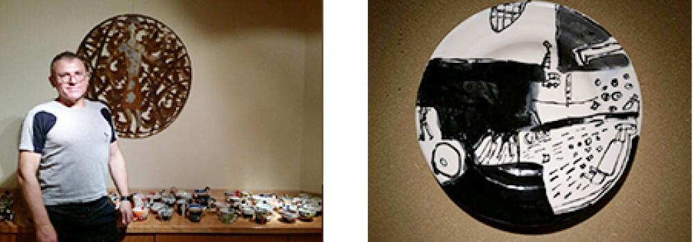 2015年10月17日から開催の「TSUKI… ラファエル・ナバス展」のラファエル・ナバスの作品展示01