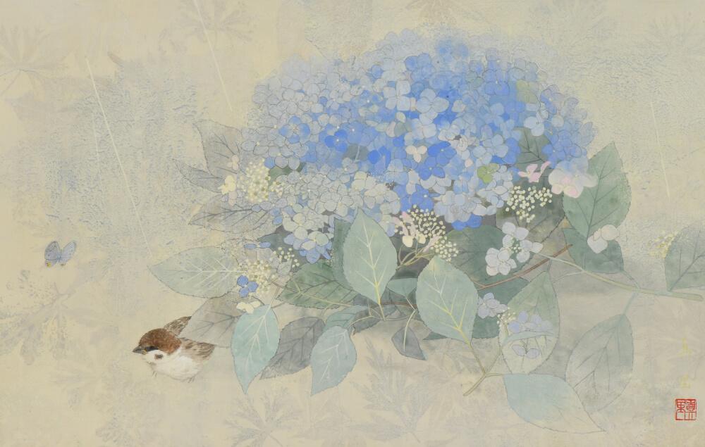 2019年6月15日から開催の「小さな風景 河本真里 日本画展」の作品