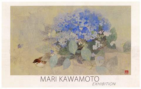 2019年6月15日から開催の「小さな風景 河本真里 日本画展」のDM