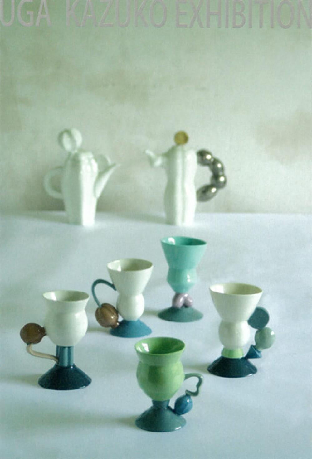 2020年8月28日から開催の「イロトカタチデアソブ 宇賀 和子 陶展」の作品
