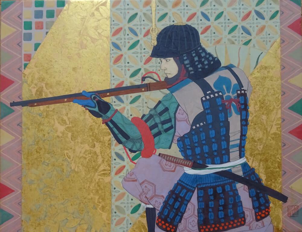 2020年9月11日から開催の「武者を描く 阪野 智啓 日本画展」の阪野智啓の作品1