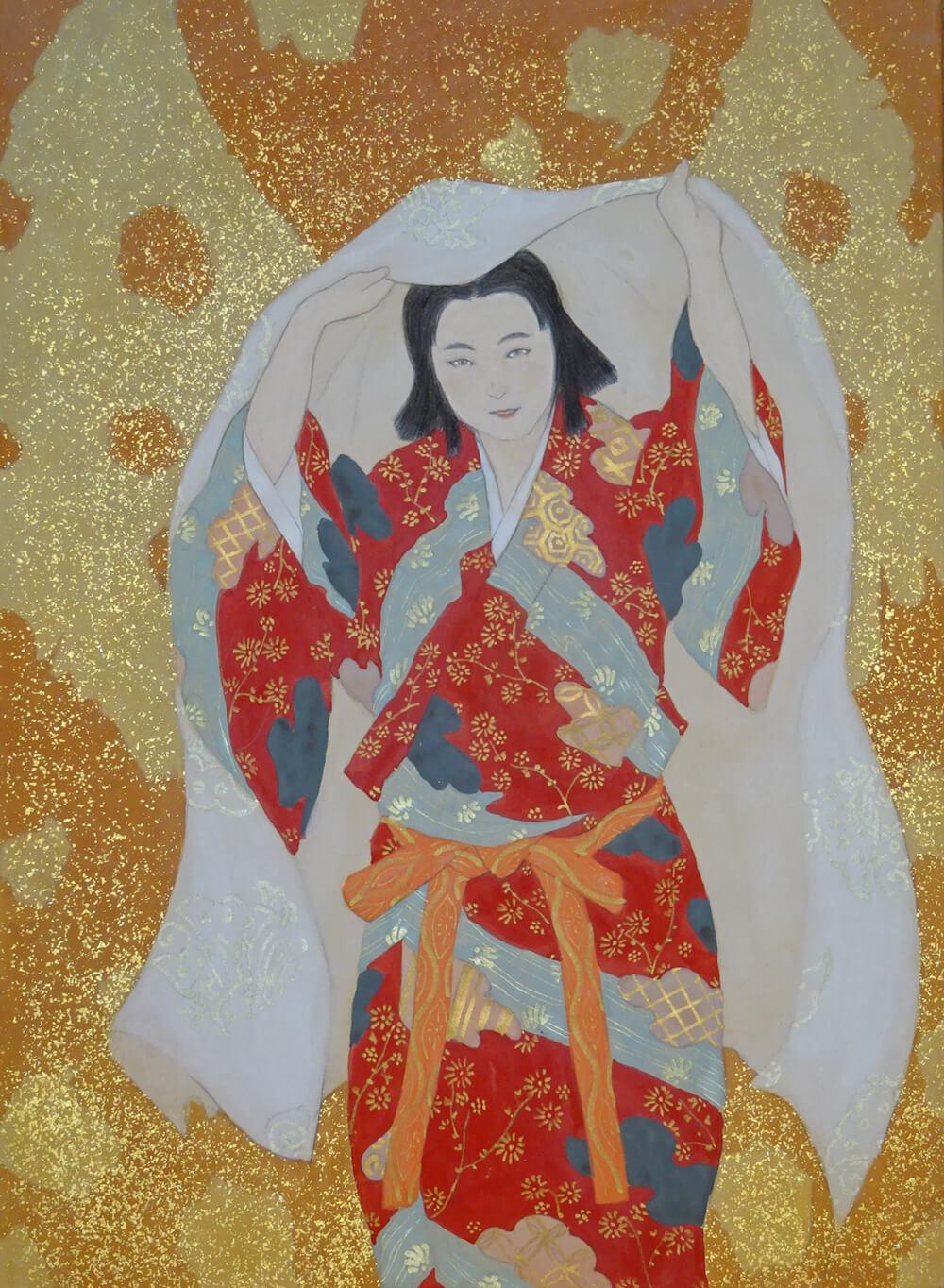 2020年9月11日から開催の「武者を描く 阪野 智啓 日本画展」の阪野智啓の作品2
