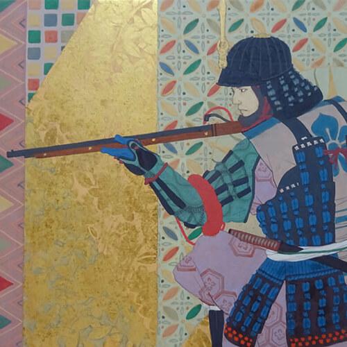 2020年9月11日開催の「武者を描く 阪野 智啓 日本画展」の阪野 智啓の作品のサムネイル画像