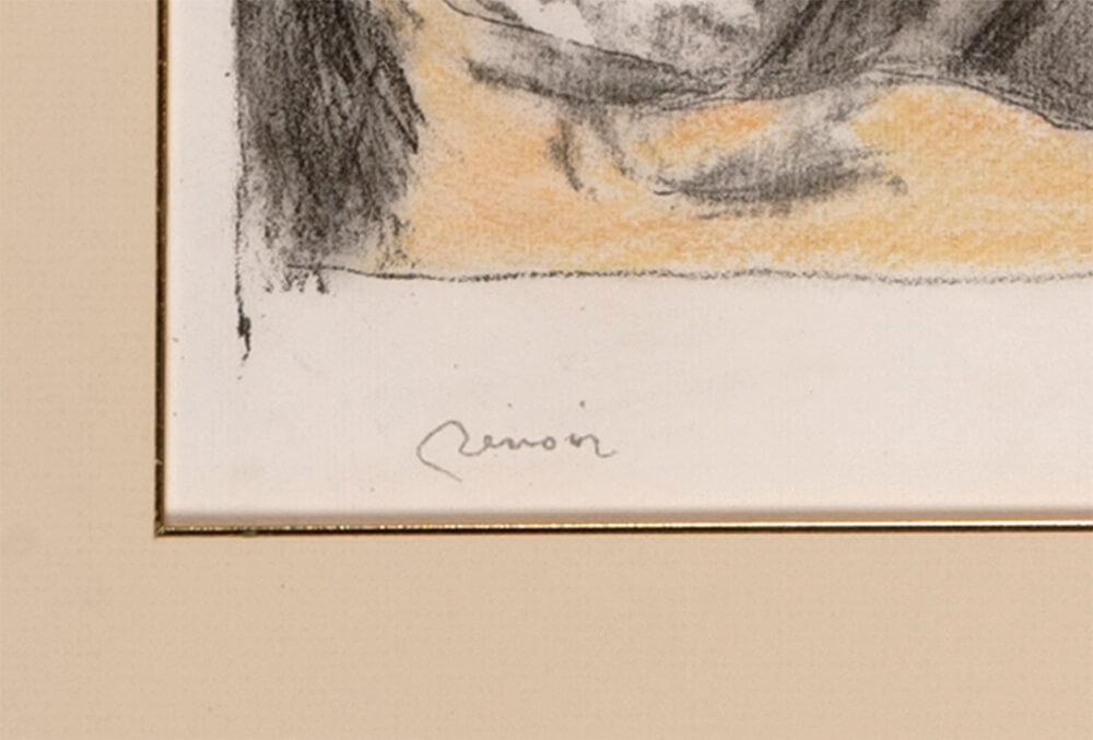 2021年1月15日から開催の「新春におくる版画芸術展」のルノワールの直筆サイン