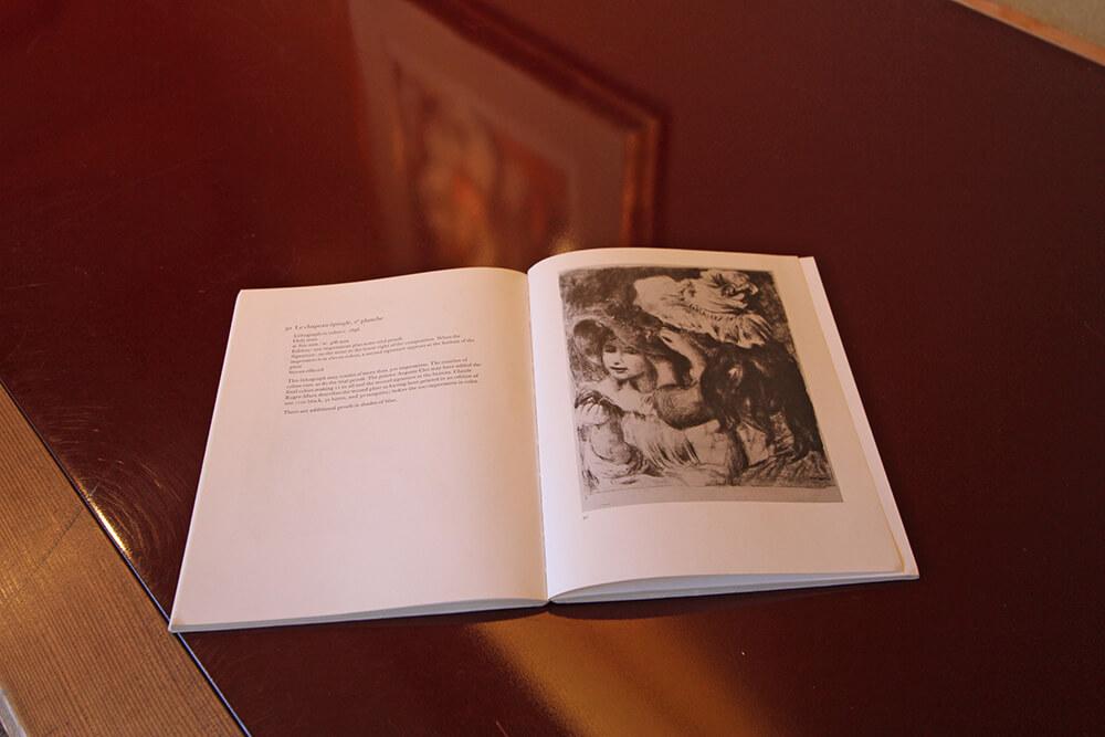 2021年1月15日から開催の「新春におくる版画芸術展」のルノワールの書載品の中身1