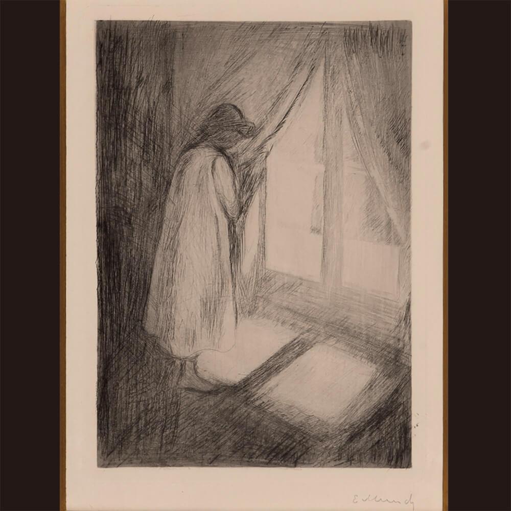 2021年1月15日から開催の「新春におくる版画芸術展」のムンクの作品