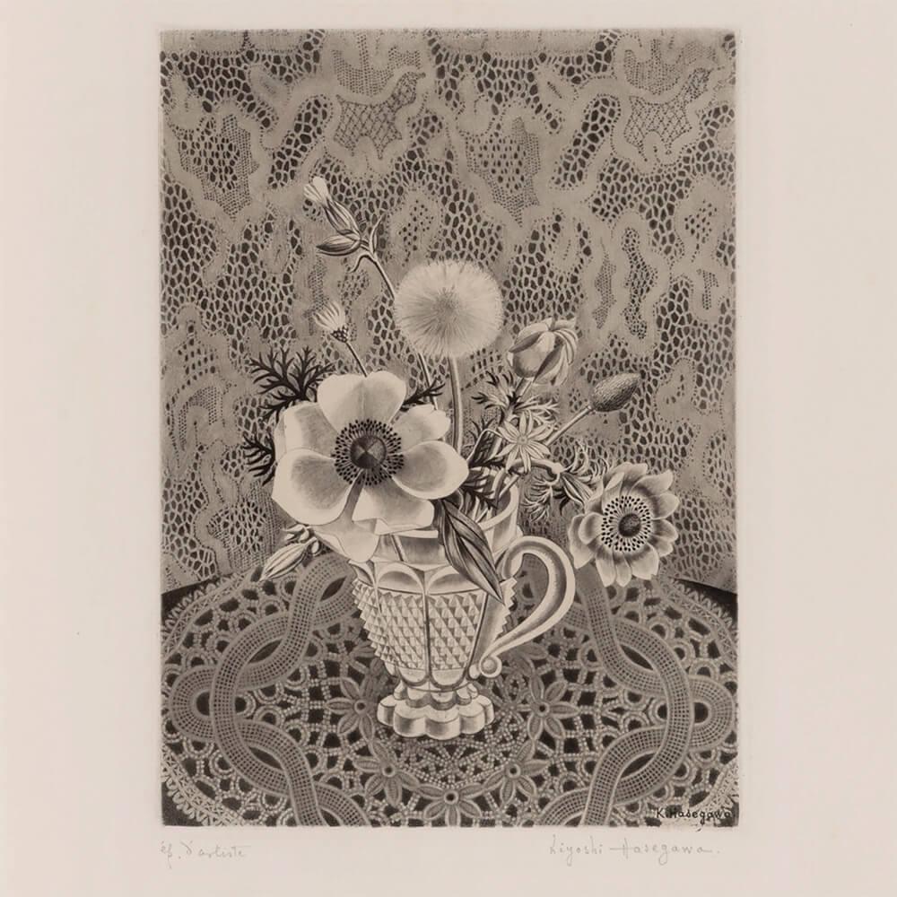 2021年1月15日から開催の「新春におくる版画芸術展」の長谷川潔の作品
